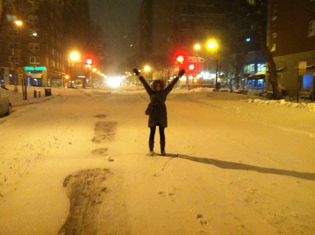 The snowy streets were magical