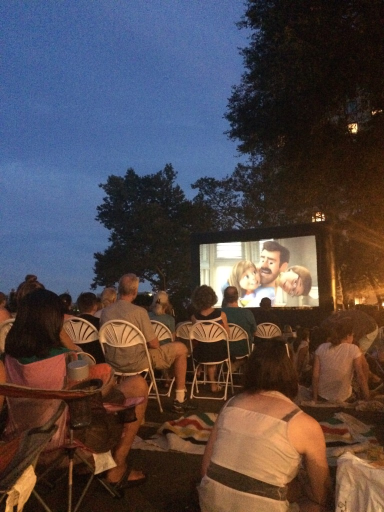 Outdoor movies! I saw INSIDE OUT in the park, and it was delightful.