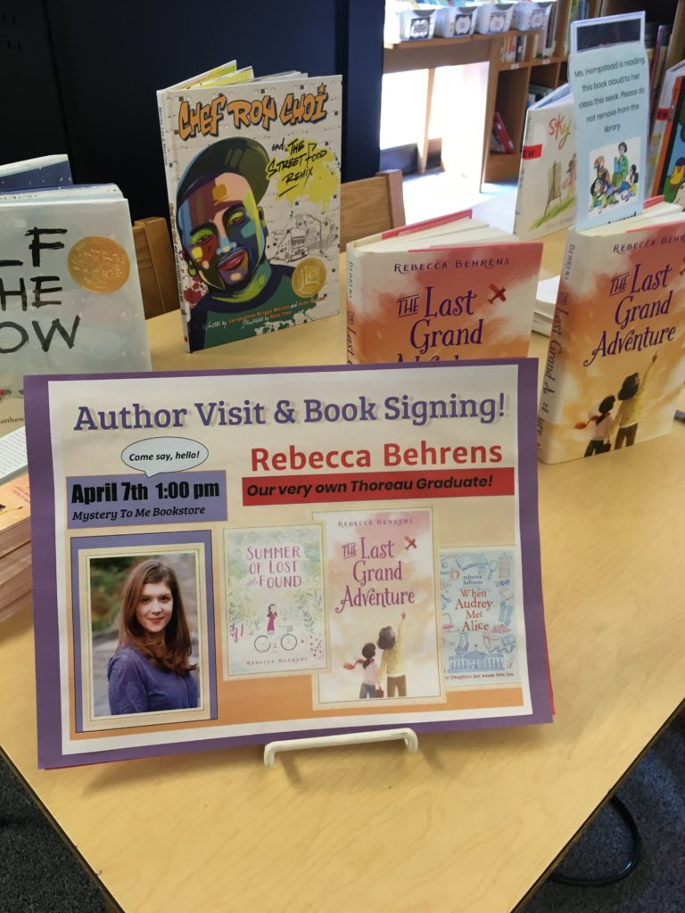 Rebecca behrens author then celebrated the books release with a reading at my hometown indie mystery to me i forgot to take any pictures at this event other than this after solutioingenieria Gallery