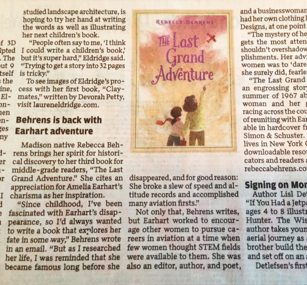 Rebecca behrens author grand adventure in the state journal solutioingenieria Gallery