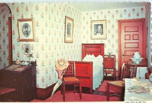 Vintage postcard of Alice's  bedroom at Sagamore Hill