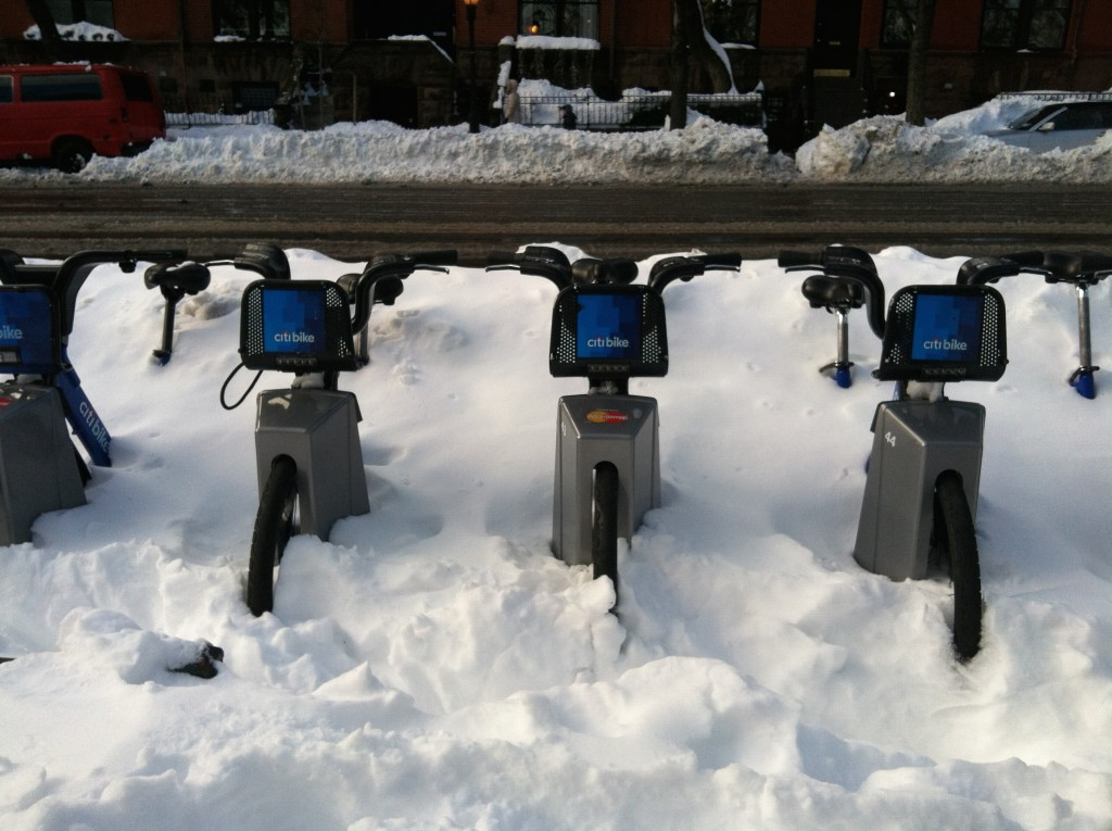 Frozen CitiBikes