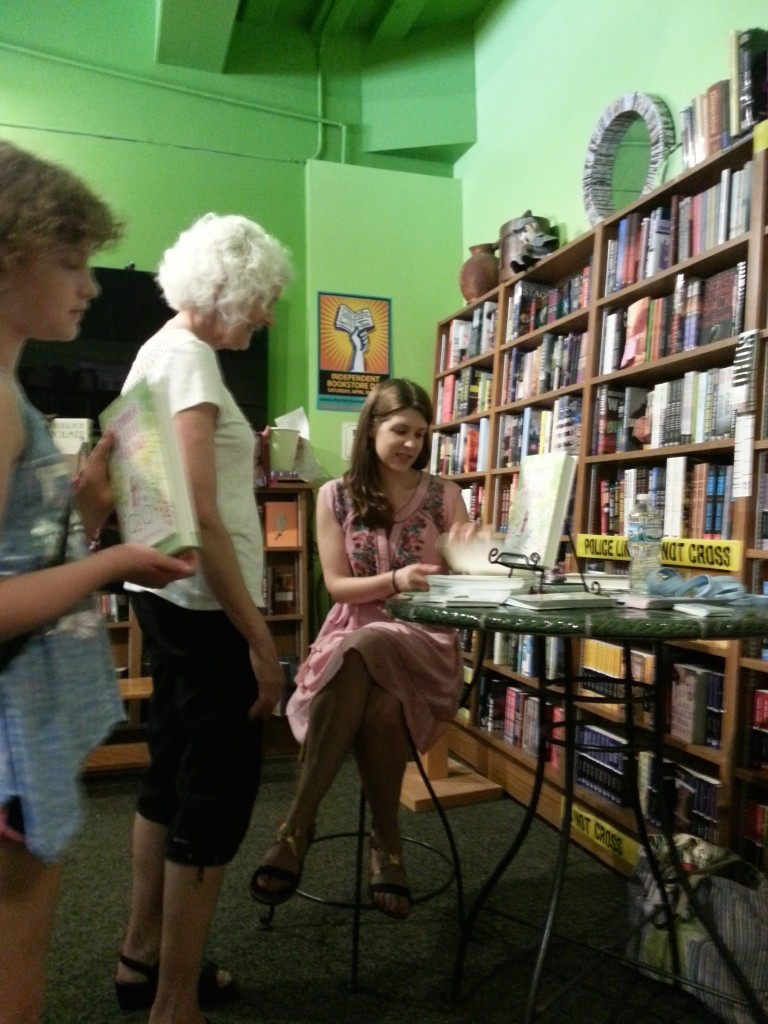 Signing a book for children's librarian (and friend) Nancy!