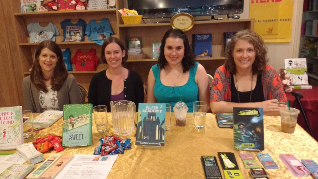 Authors in their happy place :)
