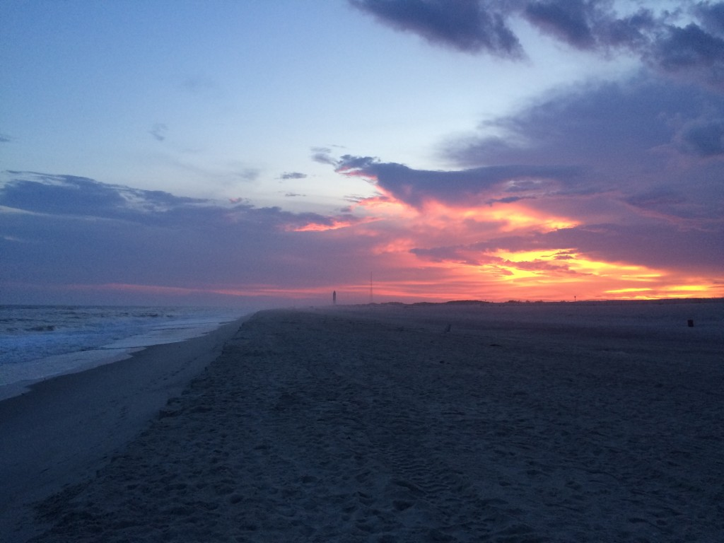 Fire Island sunsets. The hazier and moodier, the better.