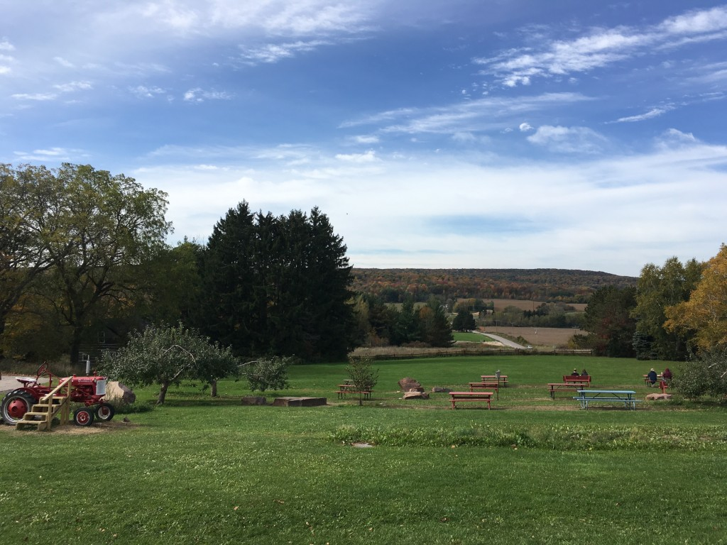 The view from Ski Hi, my favorite orchard. The pies are amazing!